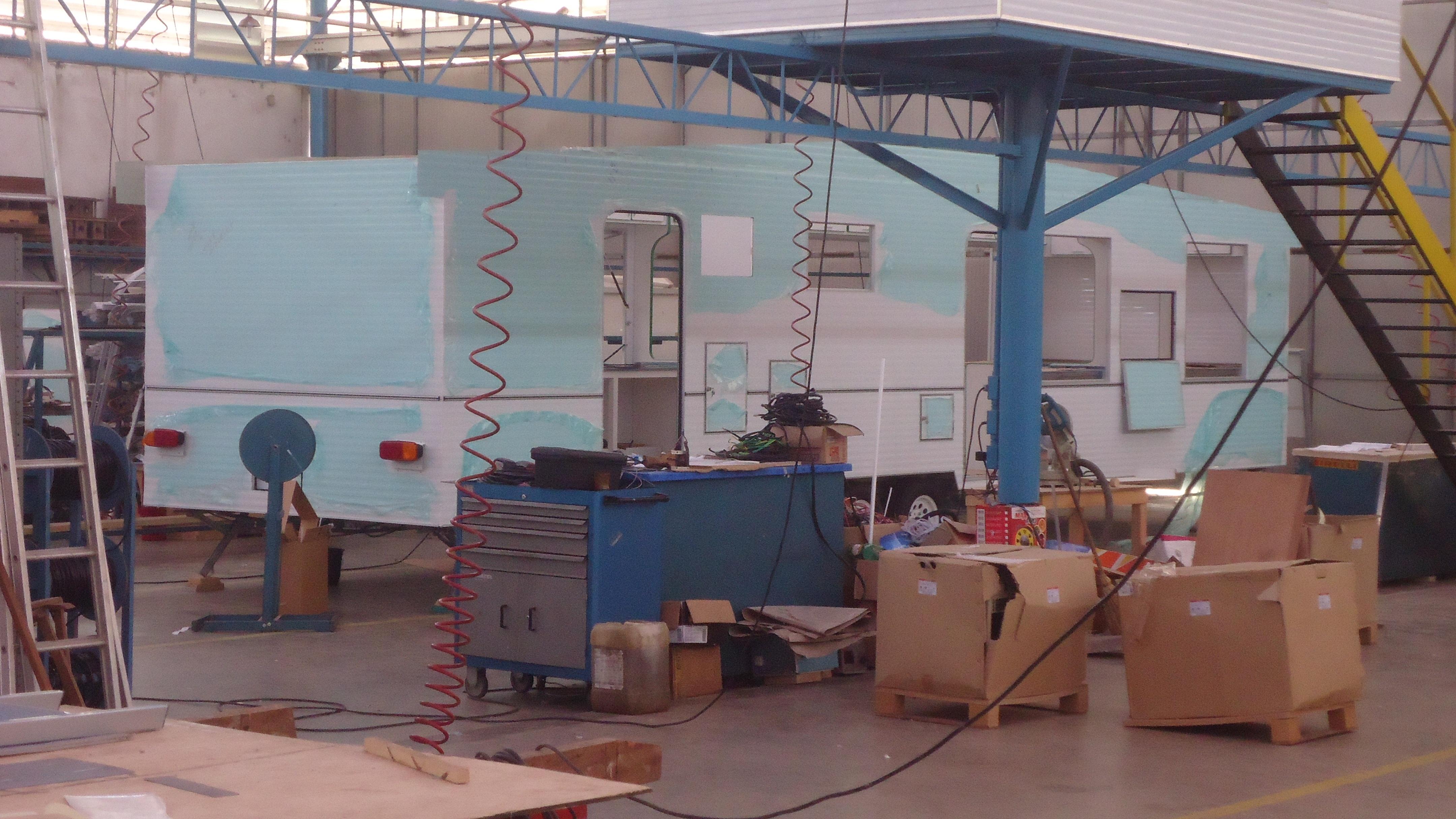 Unidade de processamento de Pescado do IFF em construção.